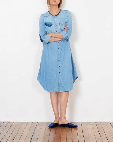Beachboy Remake Denim Western Shirt Dress
