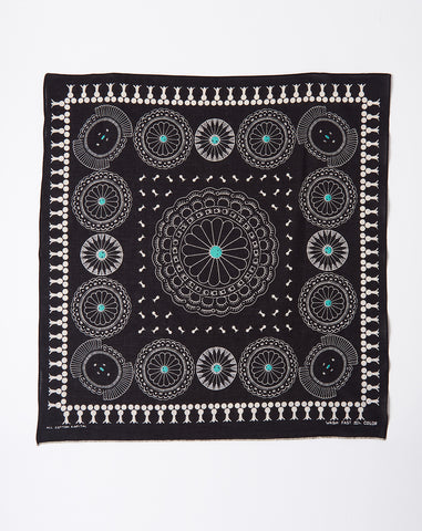Fastcolor Selvedge Concho Bandana in Black