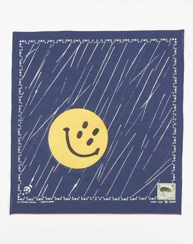 Kapital Fastcolor Selvedge Rain Smile Bandana in Navy