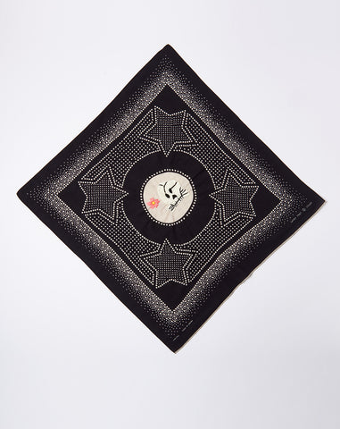 Fastcolor Selvedge Vietnam Star Bandana in Black