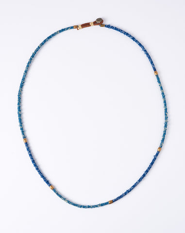 French Cloth Necklace in Indigo