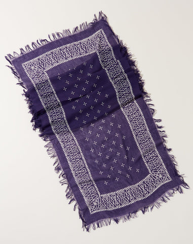 Fringe Bandana Stole in Purple