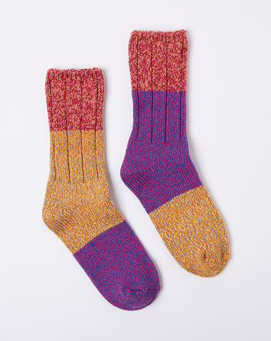 Asymmetry Gogh Socks in Pink