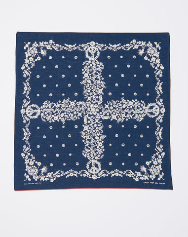 Fastcolor Selvedge Hippie Bandana in Navy