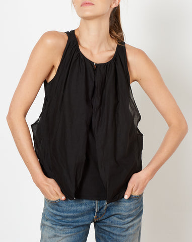 Jersey Lawn Burger Camisole in Black