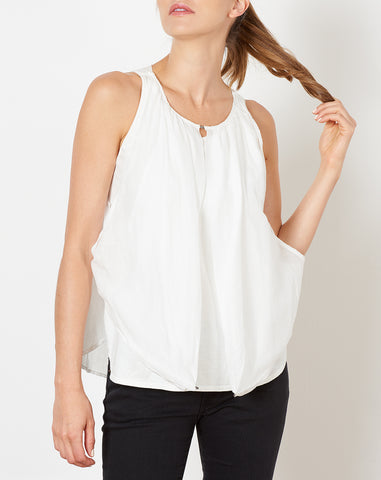 Jersey Lawn Burger Camisole in White