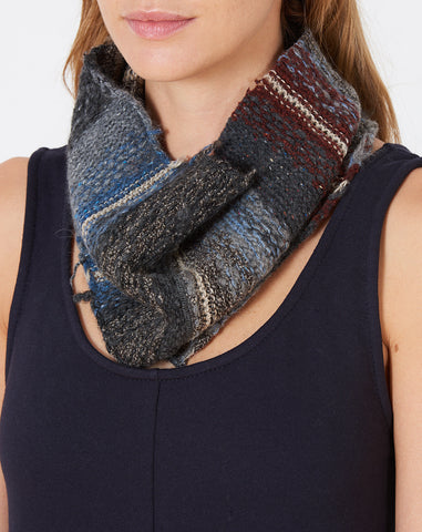 Sumi Kogin Knit Neck Warmer in Grey