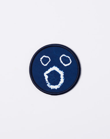 Mame Shibori Patch in Navy