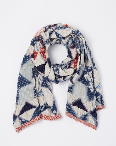 Patchwork Quilt Scarf in Trico
