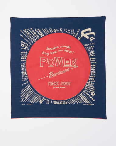 Power Fast Color Selvedge Bandana in Navy
