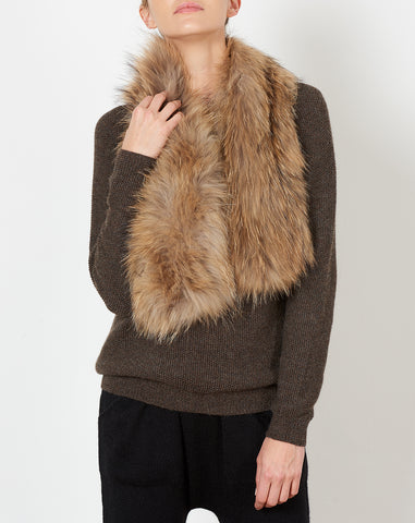 Raccoon Fur Coat Scarf
