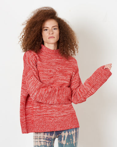 Horizon Jumper in Red Pink Melange