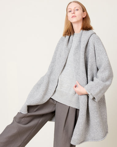 Capote Coat in Baltic