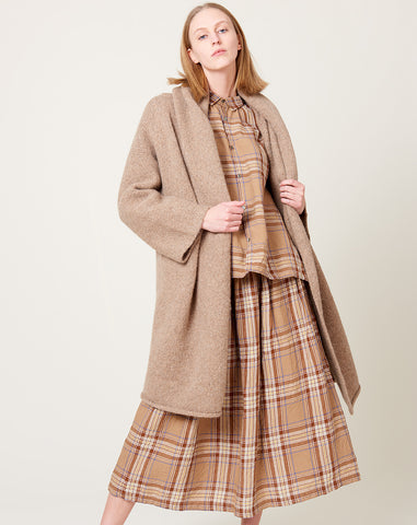 Capote Coat in Chai