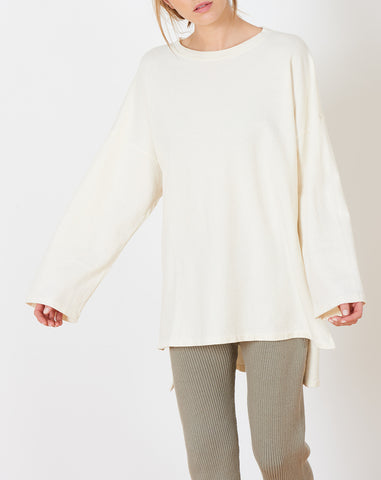 Cashmere Oversized Sweat in Bleach