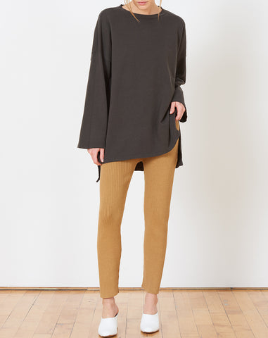 Cashmere Oversized Sweat in Carbon