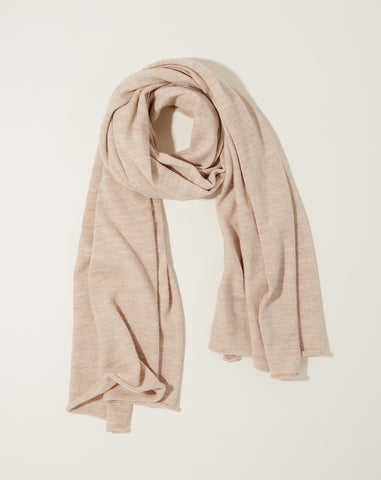 Fine Wide Scarf in Hessian