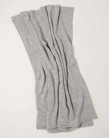 Fine Wide Scarf in Light Grey
