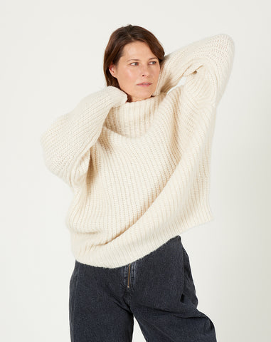 Fisherwoman Mockneck in Raw White