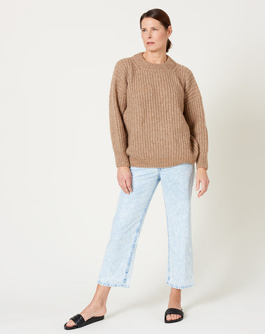 Fisherwoman Pullover in Natural Camel
