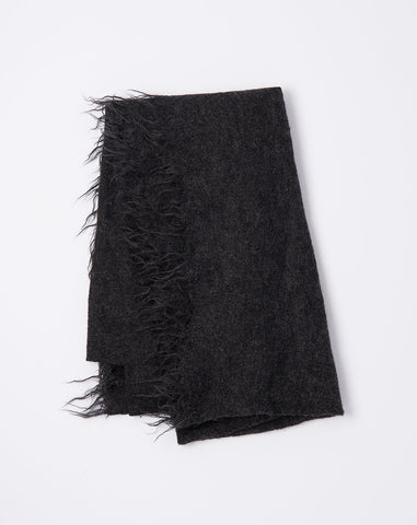 Fringe Scarf in Charcoal