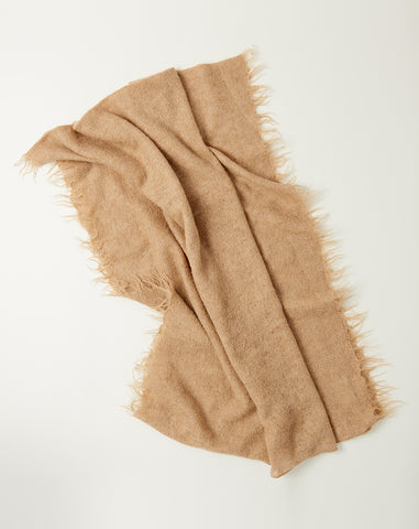 Fringe Scarf in Light Camel