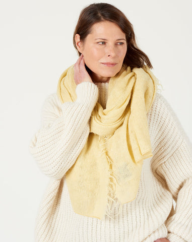 Fringe Scarf in Maize