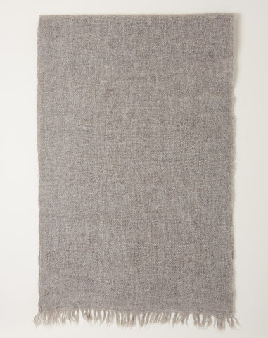 Hand Woven Gauzy Wrap in Light Grey