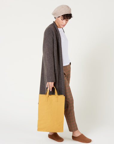 Canvas Market Tote in Brown Paper