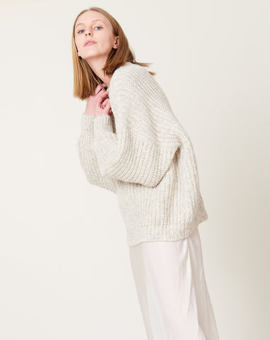 New Fisherwoman Pullover in Natural Grey