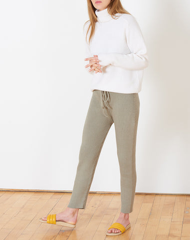 Rib Arch Pants in Clay
