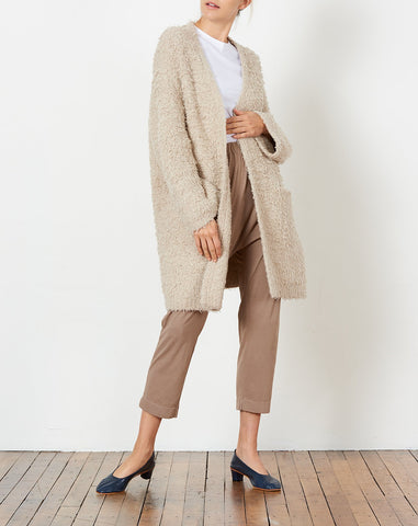 Sherpa Cardigan in Taupe