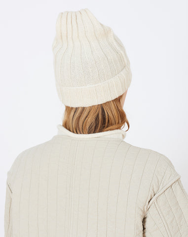 Square Hat in White