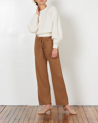 Straight Pants in Camel