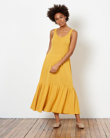 Tier Dress in Sunflower
