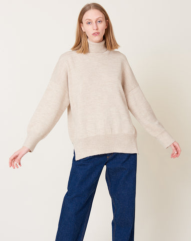 Wide Turtleneck in Hessian
