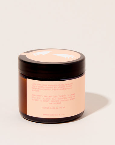 Lauren's All Purpose Salve Travel Jar in Rose Vetiver