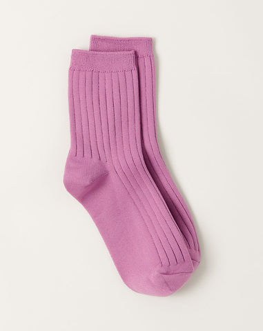 Her Socks in Orchid