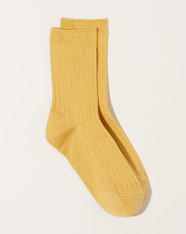 Her Socks in Buttercup Mercerized Cotton