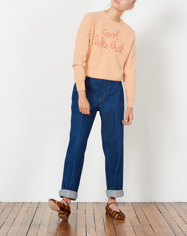 Cool Like That Embroidered Cashmere Sweater