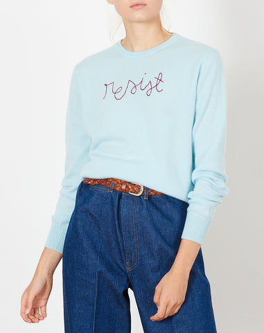 Resist Embroidered Cashmere Sweater