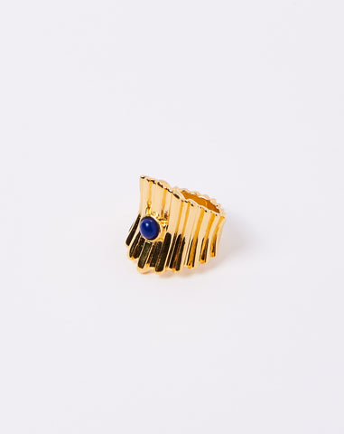 Ridged Ring in Lapis