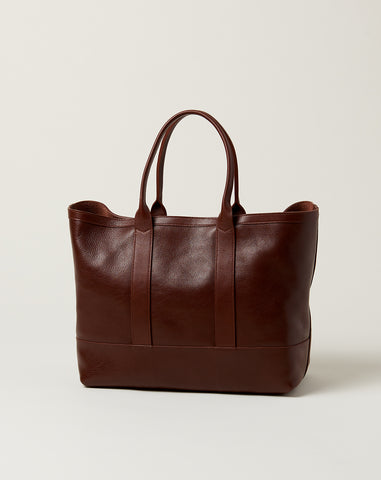 Leather Working Tote in Chestnut