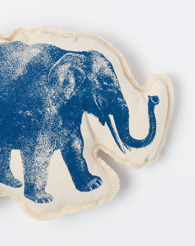 Elephant Cushion in Navy