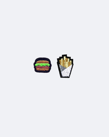Duo of Hamburger and Fries Patches
