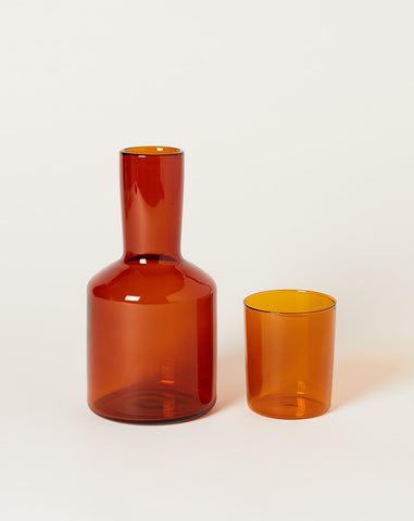 Carafe Set in Amber
