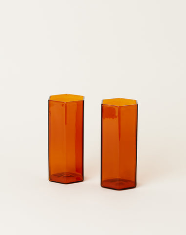 Coucou Tall Glass Set in Amber