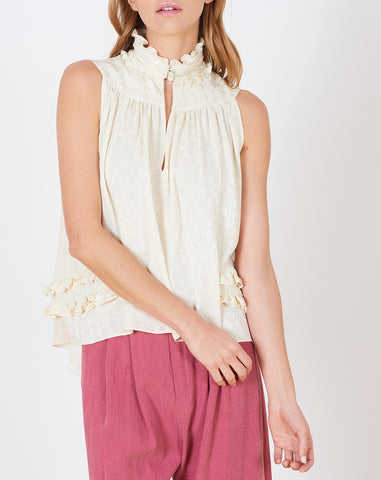 Charo Blouse in Ivory