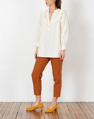 Teodora Blouse in Ivory