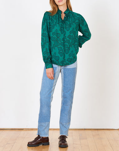 Violaine Blouse in Emerald